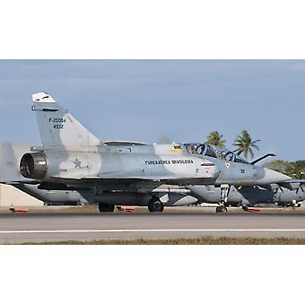 ナタール空軍基地ブラジル ポスター印刷でブラジル空軍ミラージュ 2000
