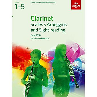 Clarinet Scales & Arpeggios And Sight-Reading, Abrsm Grades 1-5  Paperback