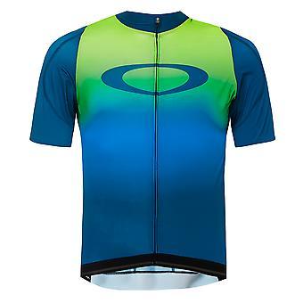 Oakley Aero Jersey Mens Zip Up T-Shirt Cycling Gym Running Top 434359 7JJ
