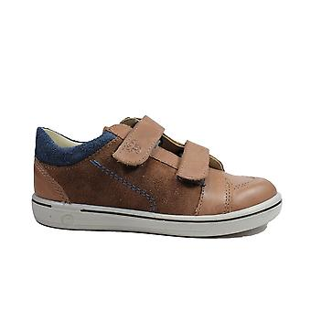 Ricosta Timmy 2622000-263 Hazel Nubuck Leather Boys Rip Tape Shoes