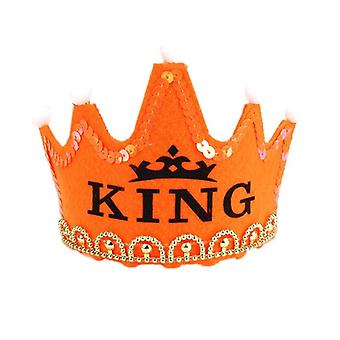 Kids Birthday Party Led Crown Hat King Princess Party Cake Photo