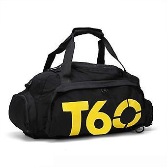 الرجال الرياضة حقيبة الصالة الرياضية حقيبة اللياقة البدنية، مساحة منفصلة للأحذية إخفاء حقيبة ظهر