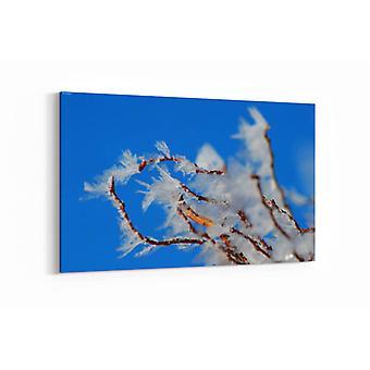 Schilderij - Bevroren tak — 90x60cm