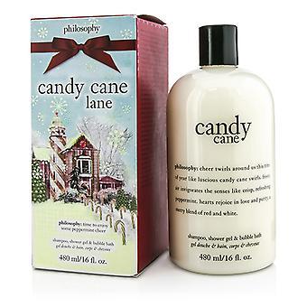 Candy Cane Lane Shampoo Suihkugeeli &; Kuplakylpy - 480ml/16oz