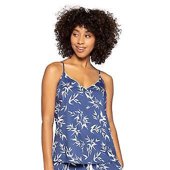 Cyberjammies Libby 4771 Women's Indigo Floral Cotton Cami Pyjama Top