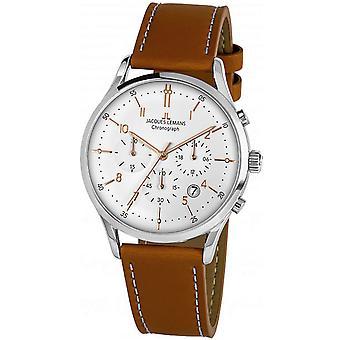 Orologio uomo Jacques Lemans 1-2068P, Quarzo, 41mm, 5ATM