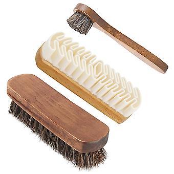 Sko rengöring borstar, polering Mane Nubuck Mocka Pu Skor Stövlar Cleaner