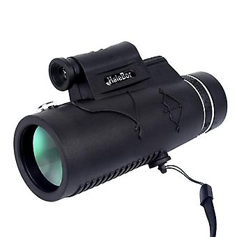 IPRee 12X50 Monocular Waterproof Optic HD Telescope Day Night Vision With Compass Light