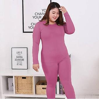 Winter Cloth Long Sleeve Plus Size Thermal Autumn Solid Warm Underwear