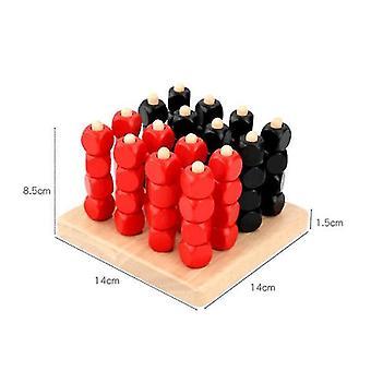 Dreidimensionale Schwerkraft Vier Männer Schach Backgammon Verbunden Schach Puzzle Denken Spiel