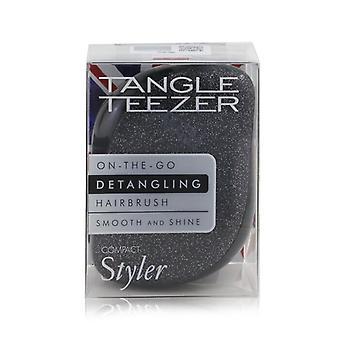 Tangle Teezer Compact Styler On-The-Go Detangling Hair Brush - # Onyx Sparkle 1pc