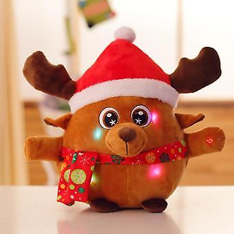 22cm Light Up Led Colorful Glowing Luminous Plush Santa Claus Stuffed Doll