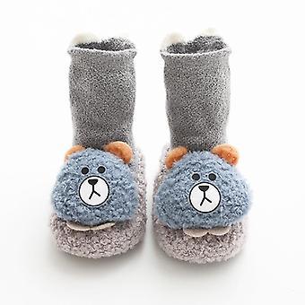 Winter Coral Thickened Baby Floor Socks, Walkers Cartoon Foot Socks