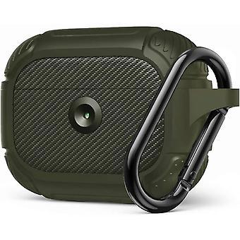 Vojenské robustní pancíř ochranné silikonové pouzdro pro Apple AirPods Pro Green