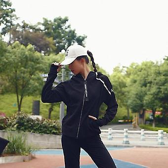 Running Jacket, Yoga Hooded, Zipper Fitness Hoodies, Long Sleeve, Thumb Hole,