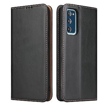 Para Samsung Galaxy S20 FE (Fan Edition) funda cuero flip wallet cubierta negro