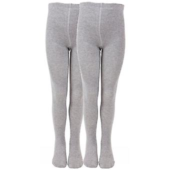 Melton 2 pack grey school tights - non-slouch