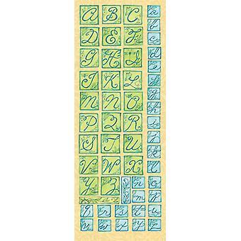 K & Co - Susan Winget Nature Die-cut Alphabet Stickers