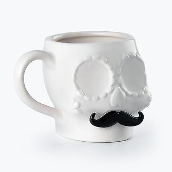 Mustard - sugar skull mug