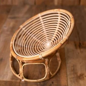 Newborn Photography Prop Basket, Handmade Vintage Bamboo Chair For Baby, Posing