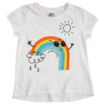 Popgear Girls Rainbow Catcher Drop Hem T-Shirt
