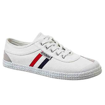 KAWASAKI FOOTWEAR - Retro canvas shoe - white - men's footwear