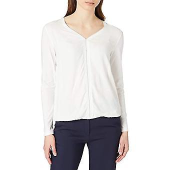 Tom Tailor Materialmix T-Shirt, 10315-Whisper White, Large Woman