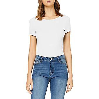 Endast Onlariel S/s Deep Back Rib Top Jrs T-Shirt, Vit (Cloud Dancer Cloud Dancer), 48 (One Size: X-Large) Kvinna