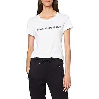 Calvin Klein Core Institutional Logo Slim Fit Tee T-shirt, White (Bright White 112), S Woman