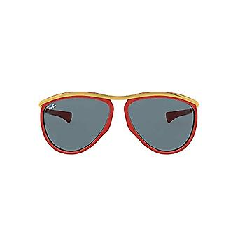 Lunettes Ray-Ban Olympian Aviator, Rouge Et Or/Bleu, 59 Unisex-Adulte