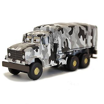 Carros Snowfield Truck Alloy Kids's Cartoon Toy Car Model