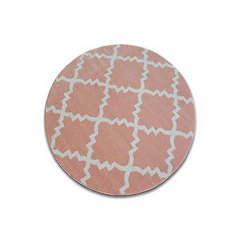 Rug SKETCH circle - F343 pink/cream trellis