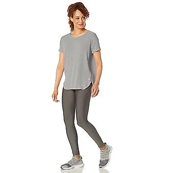 Essentials Women's Studio Relaxed-Fit Lightweight Crewneck T-Shirt, -medium grey heather, XX-Large