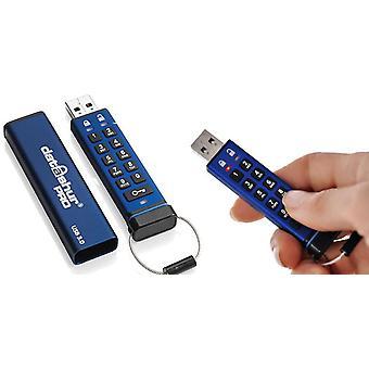 iStorage datAshur Pro 256 bites 8 GB USB flash meghajtó kék