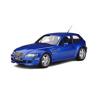 BMW Z3 M Coupe 3.2L 1999 Estroril Blue 1:18 Scale Otto OT318