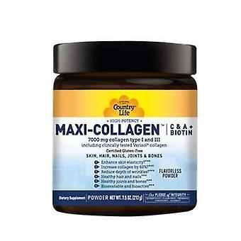 Country Life Maxi Kollageeni C & A + Biotiini, 7,5 Oz