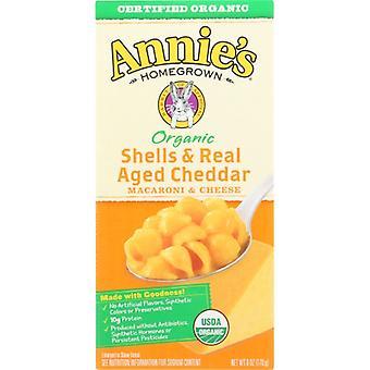 Annie's Homegrown Mac &Chs Shell Chdr Org, Cas de 1 X 6 Oz
