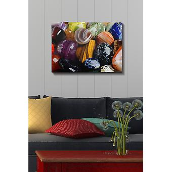 Kanvas Tablo (50 x 70) - 64 flerfärgade dekorativa dukmålning