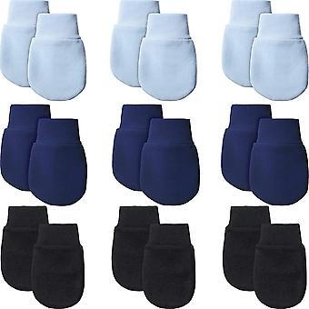 9 Paare Neugeborene Fäustlinge Baby Säugling Handschuhe Kein Kratzer Handschuhe Unisex Baumwolle
