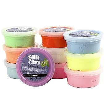10 valikoituja kirkkailla Silk Clay kattilat - Kids & aikuiset mallintaminen käsityöt
