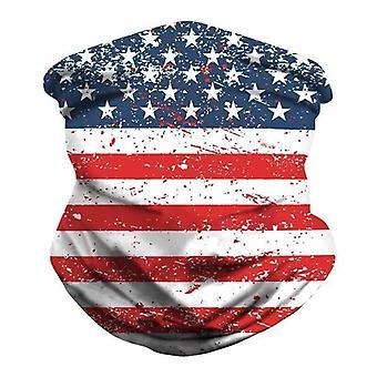 (A - American flag) 3D Print Neck Warmer Tube Scarf Snood Balaclava Face Mask