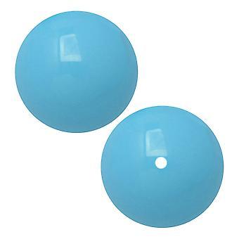 Preciosa كريستال Gemcolor بيرل، جولة 12mm، 6 قطع، أكوا الأزرق