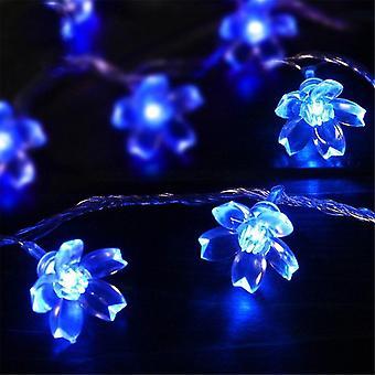 Kirsebærblomst blomst krans lampe aa batteridrevet førte streng fe bryllup jul decors haven dekoration