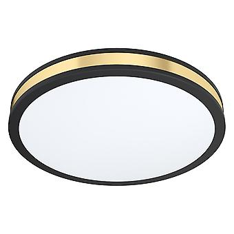 Eglo Pescaito 380mm 24w LED Ceiling Light In Black And Gold
