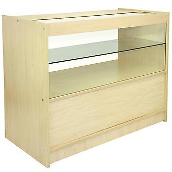 Winkel teller Maple Retail Display Opslag kabinet glas Vitrine planken C1200