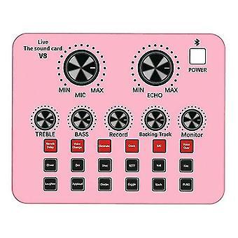 Bluetooth živá zvuková karta 12 druhů zvukových efektů hlasový převodník pro živé zpívání karaoke domů