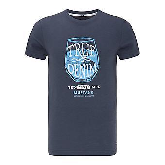 Mustang Shoes Aaron C Print 10095124085 universal all year men t-shirt
