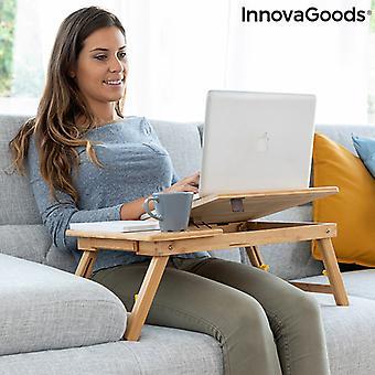 Mesa auxiliar plegable de bambú Lapwood InnovaGoods