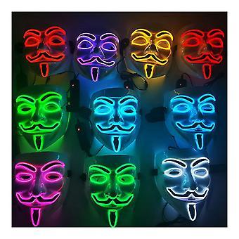 ハロウィーンマスクは、ヴェンデッタパージネオンステッチコスチュームのためのワイヤーコスプレVを点灯