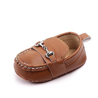 Soft Leather Baby Shoes, Fashion Slip-on Peas Shoes